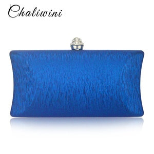 Solid Smart Clear Women Travel Toiletry Bag Red/Blue/Silver Clutch Evening Pochette Wallet Chains For Lady Shoulder Hand Bags