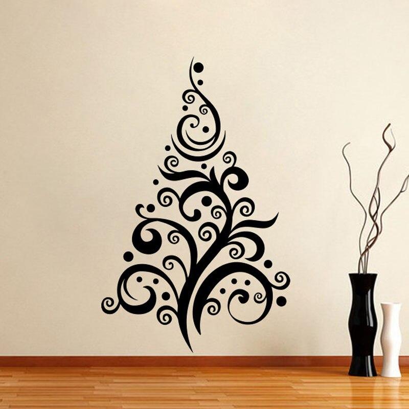 Árvore Adesivos de Parede Sala de estar Removível ZOOYOO Natal Ano Novo Criativo Decalques de Parede de Decoração Para Casa