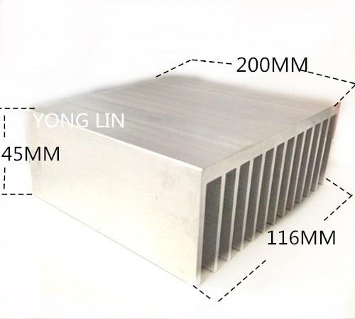 1 قطعة غرفة تبريد LED 116*45-200 مللي متر/الألومنيوم/مكبر للصوت غرفة تبريد الهيكل الخاص/وحدة بالوعة الحرارة