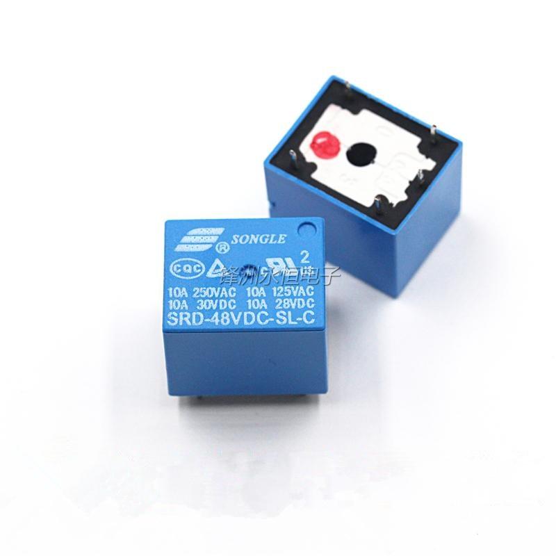 10 unids/lote DC SONGLE relé de potencia 5PIN T73 SRD-48VDC-SL-C Tipo PCB envío gratis