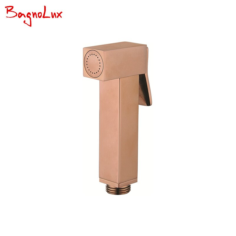 Bagnolux  Wholesale Premium Shower Toilet Spray Portable Golden Bidet Sprayer High Quality Rose Gold Mini Muslim Shattaf