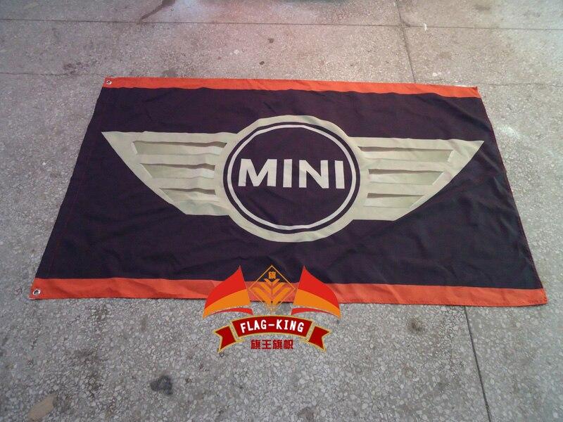 Para mini Bandera de club de carreras de coches, banner de coche de velocidad, Bandera de poliéster de 100% 90*150 CM, bandera king