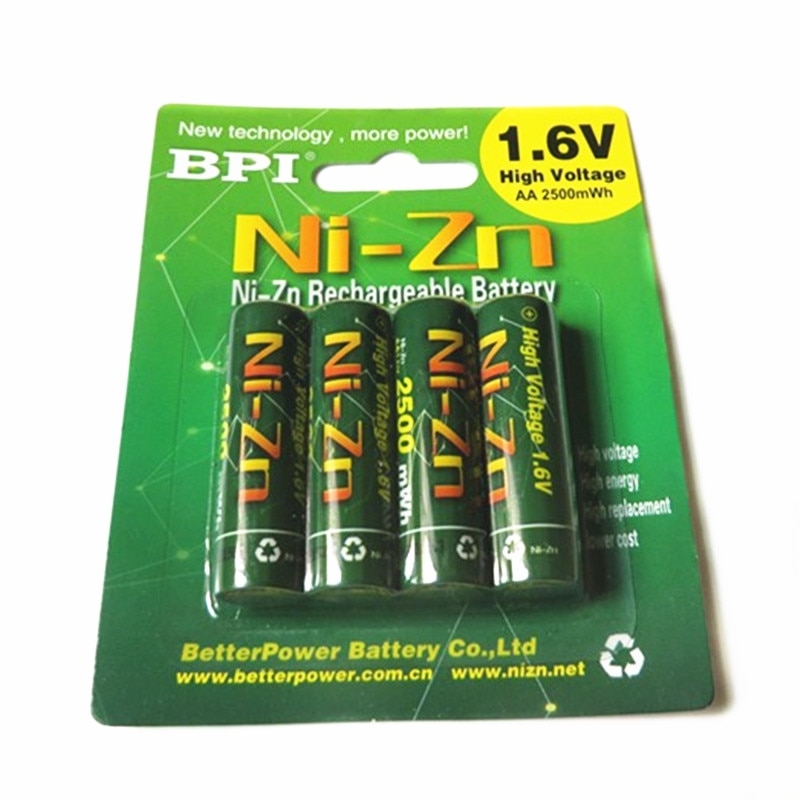 Аккумуляторная батарея BPI AA 2500mWh NI-Zn NI Zn NIZN 1,6 в с чехлом для игрушек, MP3, камеры + Бесплатная доставка, 4 шт./лот