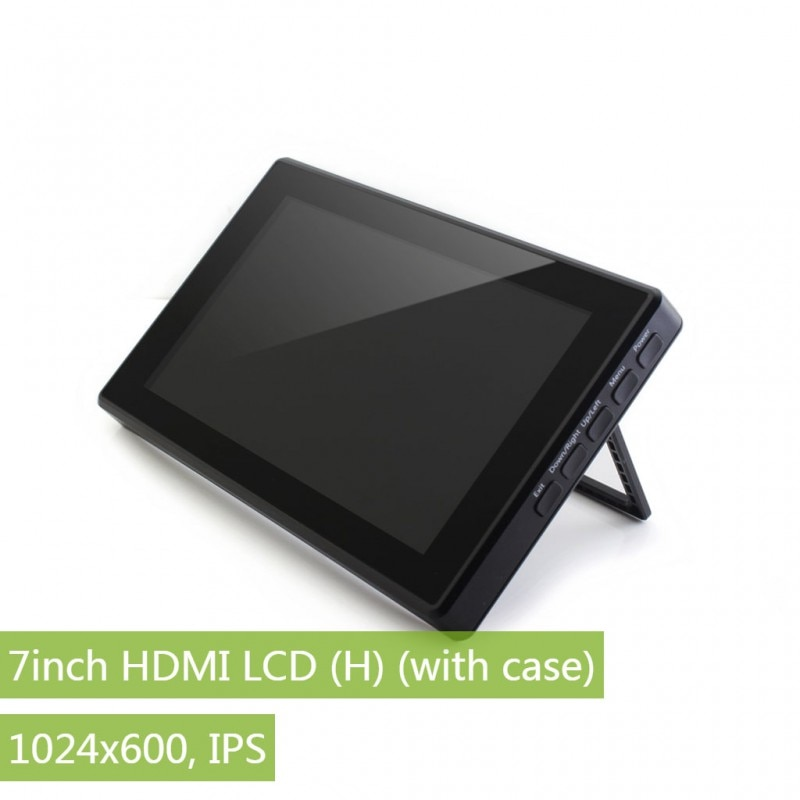 Waveshare 7 zoll HDMI LCD (H) + Fall, 1024x600, IPS, kapazitive Touch LCD, unterstützung WIN10 IOT, Win 10/8. 1/8/7, Raspberry Pi, Banana Pi etc