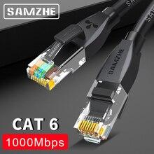 SAMZHE CAT6 câble Ethernet rond Cat 6 câble Lan RJ 45 câble réseau cordon de raccordement pour ordinateur portable routeur RJ45 câble Internet