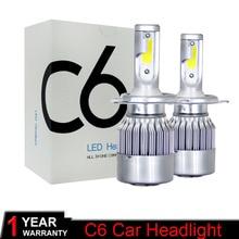 Muxall ampoules automobiles 9005 H7 H4 H11 H1 9006 6000 HB2 HB3 HB4   Phares de voiture 72W 8000Lm DC12 24V blanc, Source de style de voiture, k