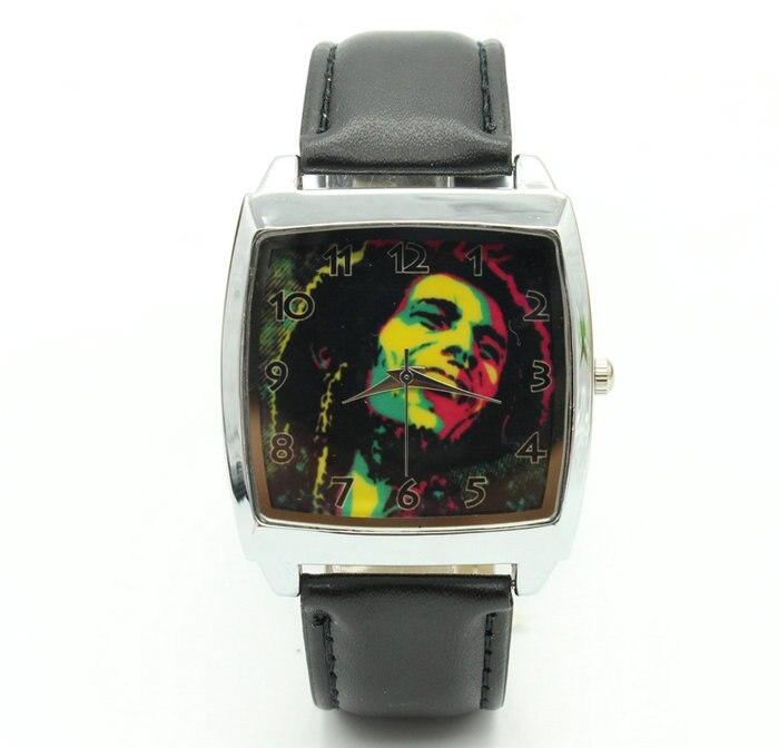 Reloj de pulsera de acero a la moda de Jamaica Bob Marley
