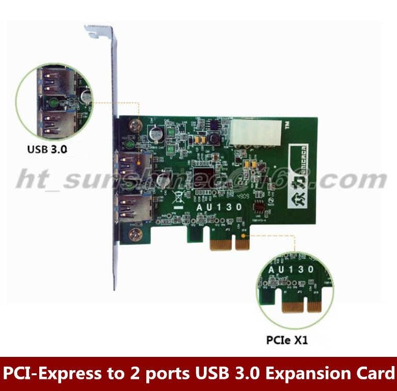 5 unids/lote pci-express a 2 puertos USB 3,0 tarjeta de expansión 5Gbps Chipset para NEC D720200F1