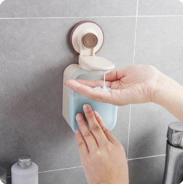 Wall-mounted Foam Soap Dispenser Bathroom Shower Gel Storage Box Shampoo Organizer Plastic Liquid Soap Box