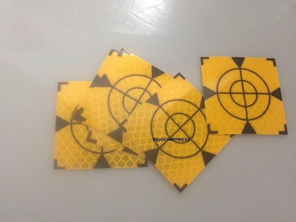 20 шт. желтый отражатель лист 60x60 мм отражающая Целевая лента общая станция