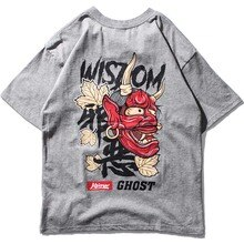 2019 neue Frühling Mens Gedruckt T Shirts Fünf-punkt Ärmeln Große Größe Hip Hop T-shirt Baumwolle Schweiß-absorbent lose Mens Tees