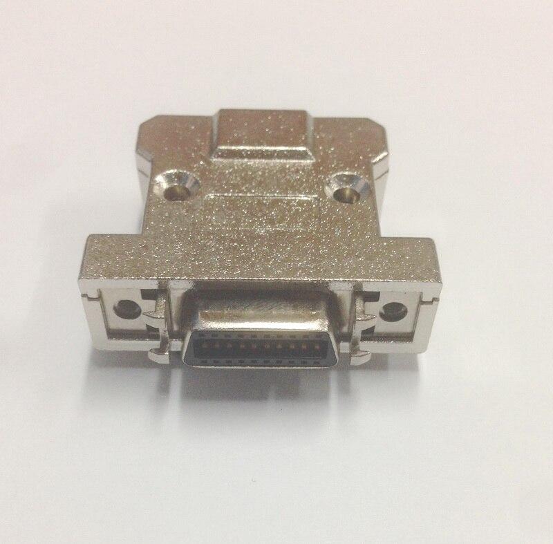 MC20FL-A SCSI разъем HPCN20 20Pin Женский адаптер штекер Железный корпус тип, шрапнель серебро