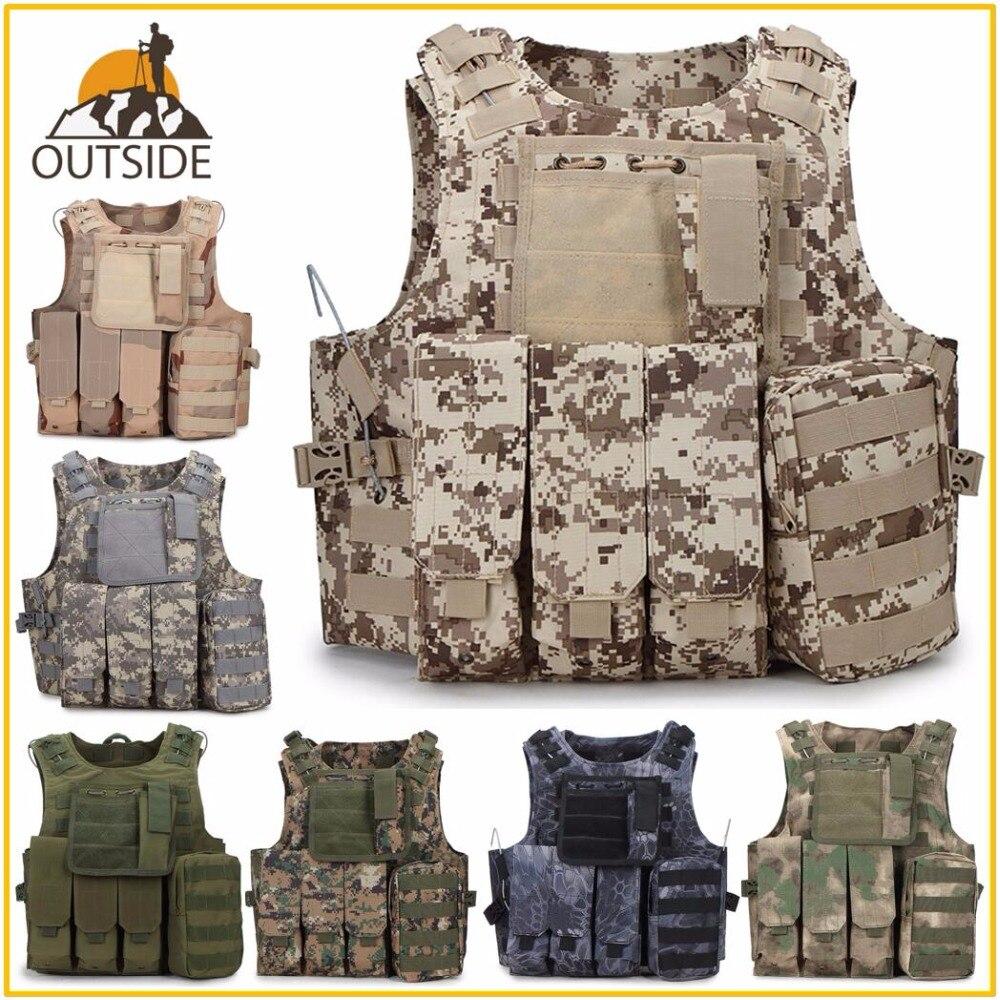 Камуфляжный охотничий военный тактический жилет Wargame Body Molle Armor охотничий жилет CS SWAT Team уличное снаряжение для джунглей