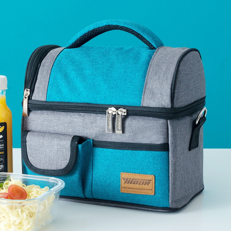 New casual hot food insulation bag cold drink picnic bag large capacity student, adult lunch bag long-term insulation