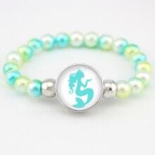 Sirène perles Bracelets licorne flamants roses bijoux à la mode femmes filles cadeau danniversaire beaucoup de Styles à choisir