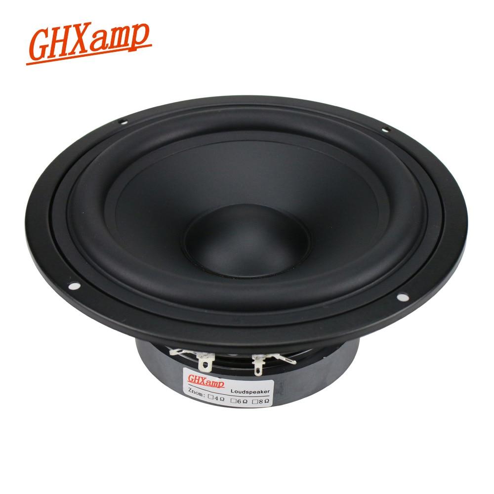 GHXAMP 7 بوصة منتصف باس المتكلم وحدة 130W ايفي Mediant المسرح المنزلي العميق باس مكبر الصوت مكبر الصوت المطاط حافة 1 قطعة