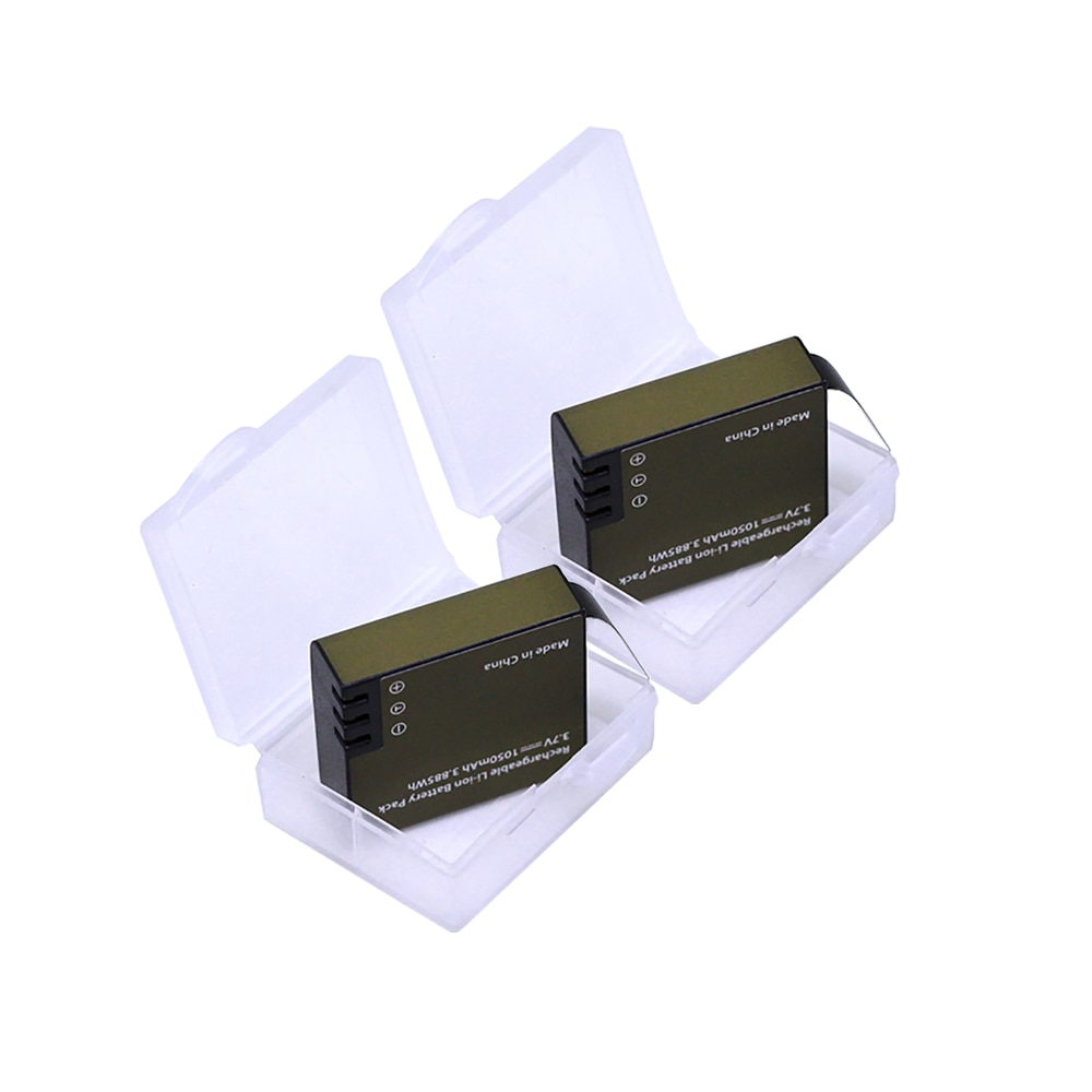 2 pzas/lote Cámara de Acción baterías PG1050 para SJCAM SJ4000 SJ5000 SJ6000 SJ8000 EKEN 4K H8 H9 GIT-LB101 GIT PG900 1050mAh batería de la batería