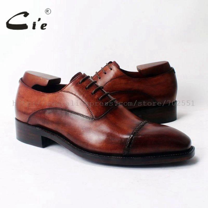 حذاء جلد أكسفورد مع أربطة للرجال ، حذاء مربع ، مصنوع يدويًا ، جلد أصلي 100% ، جوديير ، ويلد ، OX321