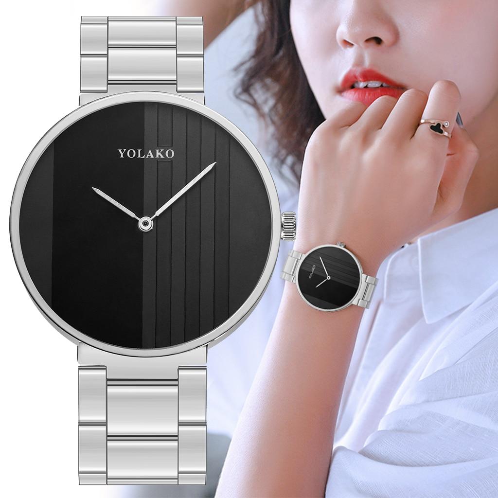 2020 nuevo reloj Simple de moda para mujer, pulsera de acero, relojes para mujer, marca YOLAKO, reloj de pulsera de regalo elegante para mujer, reloj