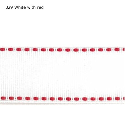 "1 ""polegada 25mm Vermelho ponto Branco fita"
