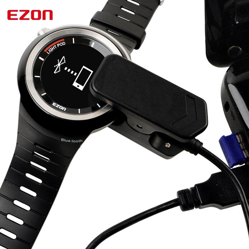Preto para T031 Ezon Relógio Esportivo Carregador Original Cabo Usb s2 g2 g3 T907 T043