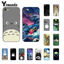 Yinuoda Hayao Miyazaki Totoro motif imprimé housse de téléphone pour iPhone 8 7 6 6S 6plus X XS MAX 5 5S SE XR 11 11pro 11promax