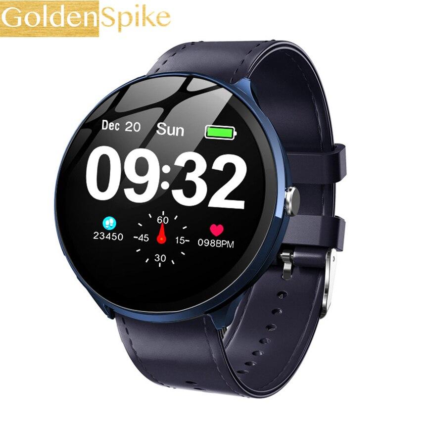 V12 reloj inteligente presión arterial oxígeno actividad rastreador Monitor de ritmo cardíaco inteligente Fitness pulsera impermeable una pantalla táctil
