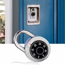 Поворотный кодовый замок, кодовый замок с цифрами, безопасный круглый номер циферблата, чемодан для багажа, безопасность, велосипедный чемодан, ящик для ящика