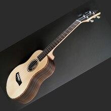 Haute qualité placage ukulélé 4 cordes guitare hawaïenne 23/26 pouces épicéa ukulélé Chibson guitare acoustique palissandre touche
