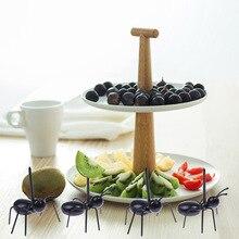 12 Stuks Fruit Vork Ant Vorm Snack Prod Cake Dessert Servies Stok Thuis Keuken Party Diner Picker