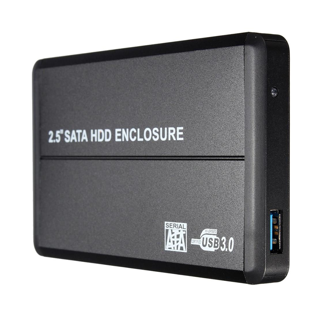 "Unidad de disco duro HDD USB 3,0 SATA 2,5 "", caja de cierre externa para ordenador portátil, PC negro"