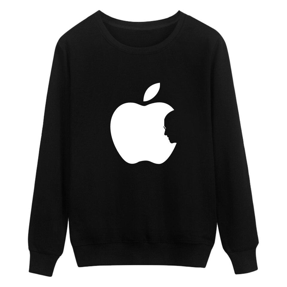 Sudadera con capucha de algodón de 4 colores de Apple Steve Jobs, gran oferta de talla grande, ropa a la moda con estampado de manzanas XXS 4XL