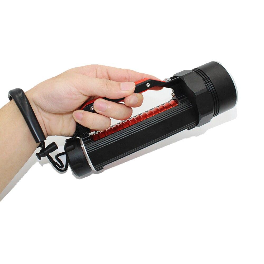 1800 lumens 6 x UV LED diving flashlight Waterproof underwater Ultraviolet Purple light scuba torch Lamp enlarge