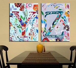 Ручная роспись холст Картина маслом новая ткань Живопись дизайн художественная живопись на холсте буквы холст картина для спальни