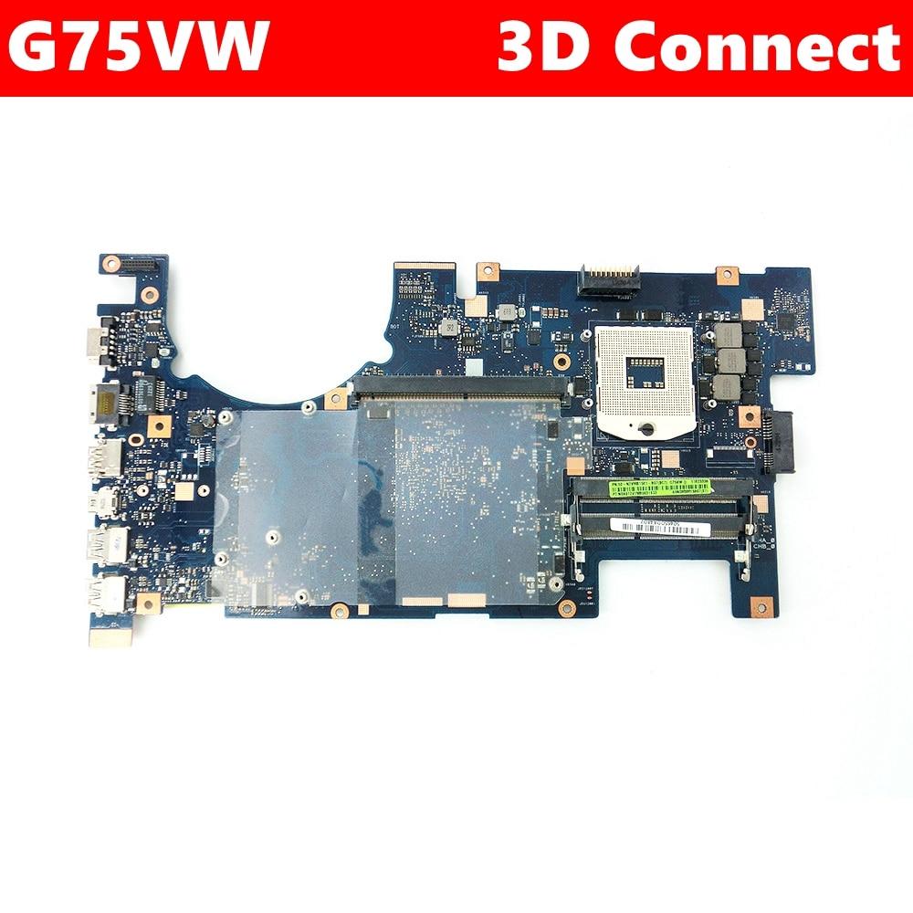 G75VW 3D conectar placa madre REV 2,4/2/1 para ASUS G75V G75VW placa base de computadora portátil HM65 60-N2VMB1501-B07 100% probado envío gratuito
