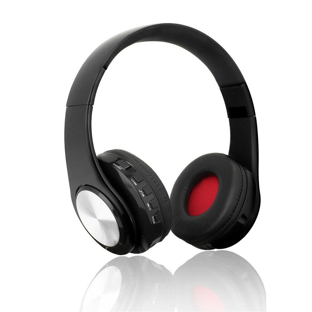 Auriculares Bluetooth con cancelación de ruido, auriculares inalámbricos estéreo plegables, Auriculares deportivos con micrófono manos libres 15J, envío directo