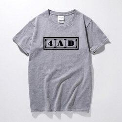 T-shirt da forma YUAYXEA 4AD Metros Sintonizar O Grande camiseta hip hop camiseta homme Algodão camiseta Manga Curta camiseta masculina