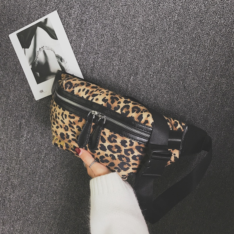 CCRXRQ 2019 New Arrival Women Waist Bags Sexy Leopard PU Leather Chest Bag Female Fashion Fanny Pack Ladies Shoulder Bag Bananka