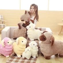 Mignon chanceux mouton chèvre en peluche poupée jouet dessin animé Animal mouton vraie vie oreiller en peluche poupées jouets pour enfants cadeau danniversaire B45