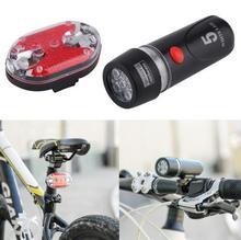 1 ensemble vélo de cyclisme Ultra lumineux 5 led lampe de poche frontale et 9 led arrière Flash lumière Laser queue lampe de vélo