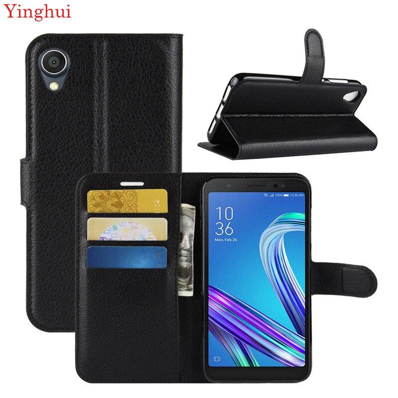 Für Asus ZenFone Live L1 ZA550KL Fall Flip Leder Telefon Fall Für Asus ZenFone Live L1 Brieftasche Leder Stehen Abdeckung filp Fällen