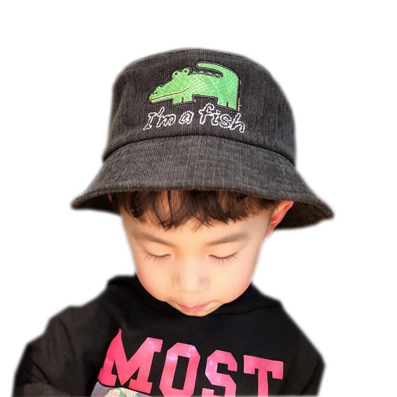 Envío Gratis sombreros de cubo para niños gorra de sol de verano niños sombrero de pesca transpirable Cute Cubo de Panama Cap