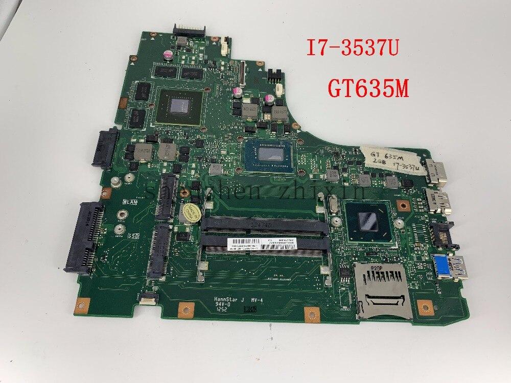 Para ASUS K46CM K46CB K46C K46 Laptop motherboard I7-3537U CPU DDR3 Mainboard con GT635M tarjeta gráfica, prueba buena