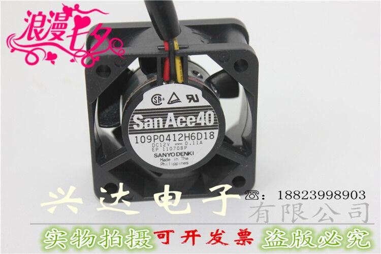 Original 4cm 4020 double ball cooling fan 12V 0.11A 109P0412H6D18
