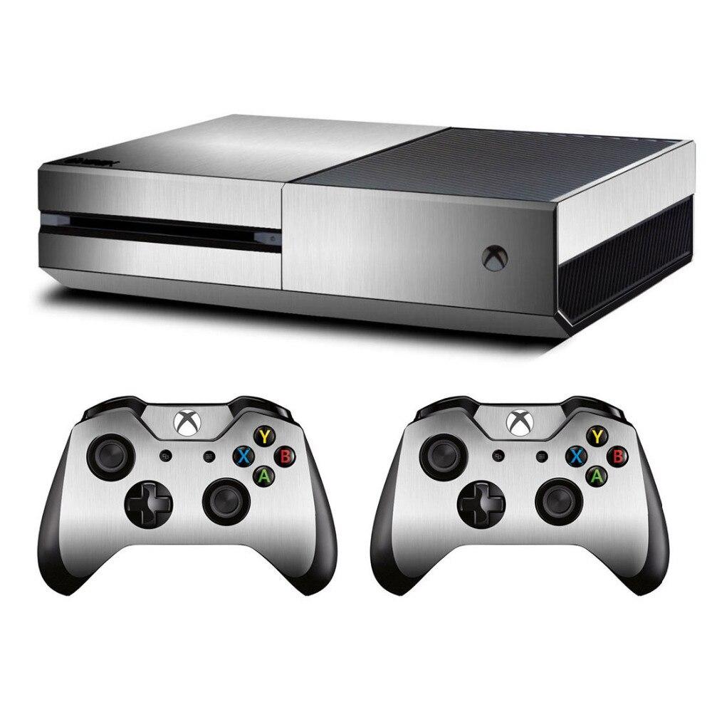 Металлическая матовая наклейка для Microsoft Xbox One консоль и Kinect и 2 контроллера для Xbox One виниловая наклейка