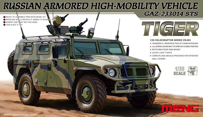 Meng modelo 1/35 VS-003 Vehículo de alta movilidad GAZ-233014 STS Tiger modelo Kit vs003
