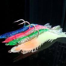 2PCS/bag Artificial Camarao Lure 9cm/10g Single Hook Artificial Soft Shrimp Leurre Peche Tackles Supplier