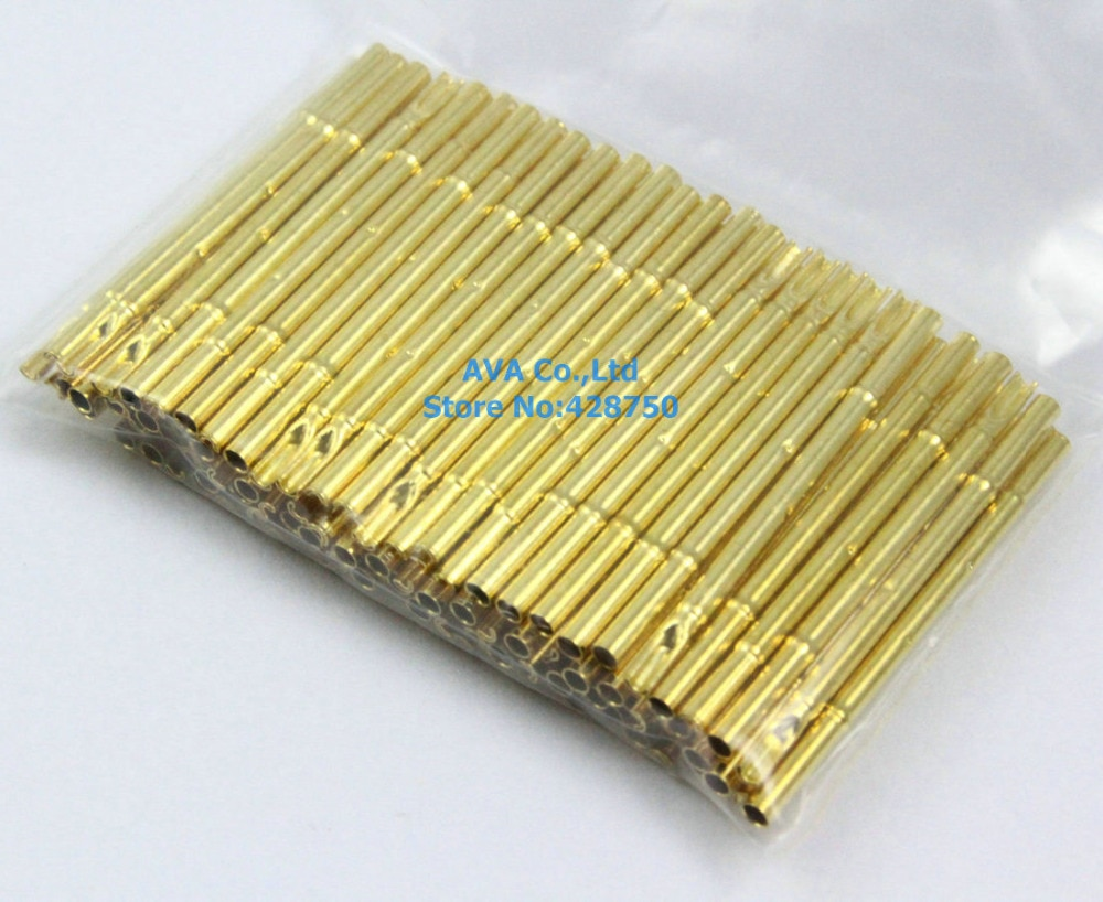 100 peças R100-4S sonda de teste pogo pin receptáculo fit p100 series