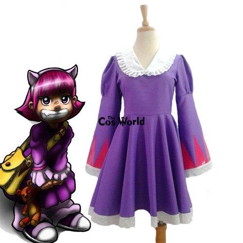 LOL The Dark Child Annie Lolita Maid Dress Uniform Outfit Games Cosplay Costumes