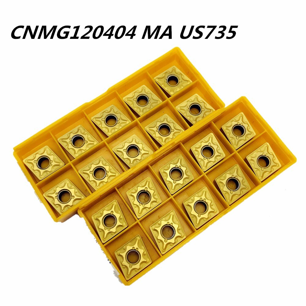 50PCS Carbide insert CNMG120404 US735 high quality external turning tool carbide cutting lathe CNC